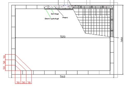 La piscine de bubu structure b ton for Plan piscine beton
