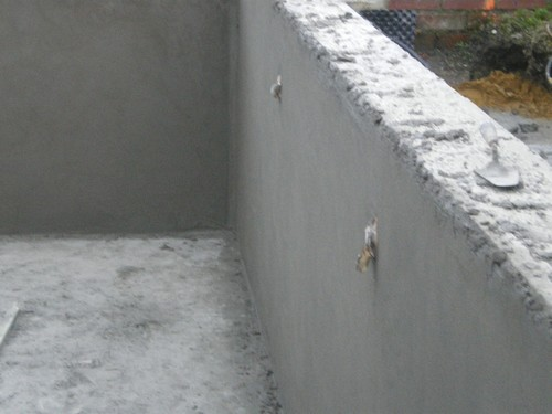 La piscine de bubu cimentage - Comment faire le crepi exterieur ...
