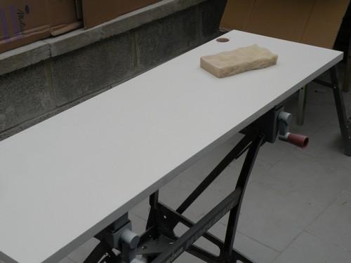 L 39 atelier bois generic 5 laquage final for Peinture meuble bois sans poncage